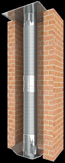 Flexibler einwandiger Edelstahlschornstein für die Schornsteinsanierung oder als Verbindungsleitung einer Abgasanlage